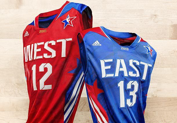 All Star Game NBA Uniforms 2013