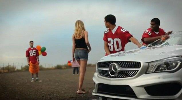 Kate Upton Superbowl Mercedes CLA Commercial