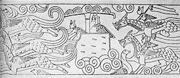 Stone_Carving_In_Shantung_147AD_Dragon_Chariot