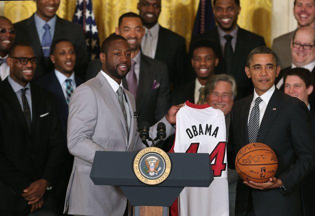 Wade Obama Heat Jersey
