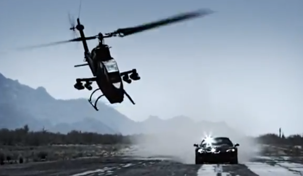 Corvette vs elicopter Top Gear Coreea de Sud