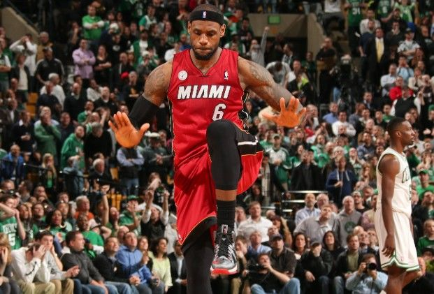 LeBron James Miami Heat Boston Celtics