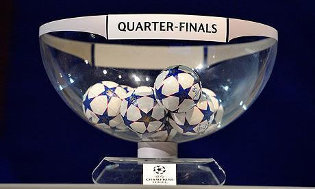 Tragerea la sorti pentru sferturile de finala din Liga Campionilor