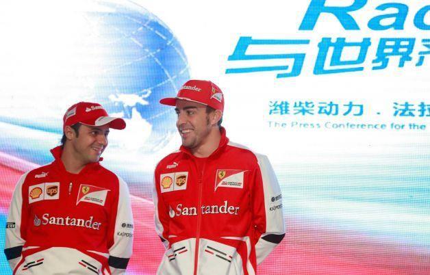 Formula 1 Fernando Alonso Felipe Massa China 2013