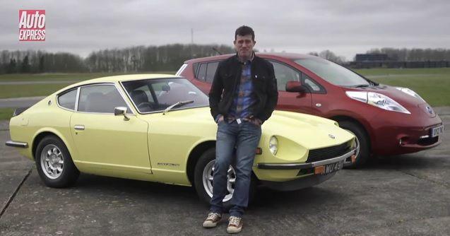 1971 Datsun 240Z vs Nissan Leaf AutoExpress Mat Watson