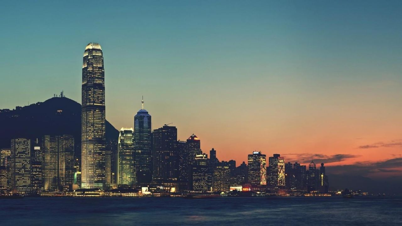 hong-kong-china-asia-harbour-dusk-hd-97530