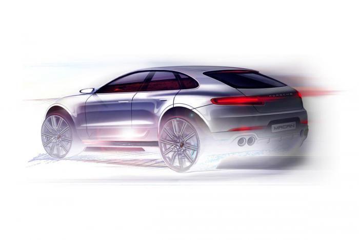 Porsche Macan schita oficiala 2